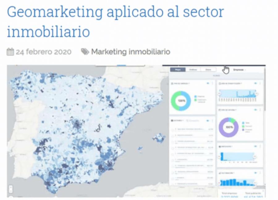 Geomarketing aplicado al sector inmobiliario