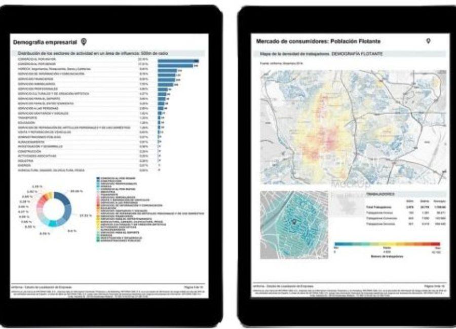 La app Geomarketing, consultable online durante el confinamiento